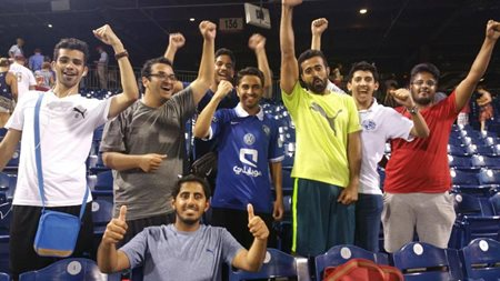 Qassim University students cheering on the Phillies