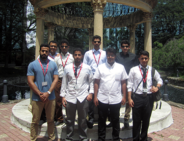 Qassim University Students on Salus Campus