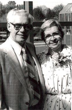 Harry and Mae Kaplan at The Eye Institute