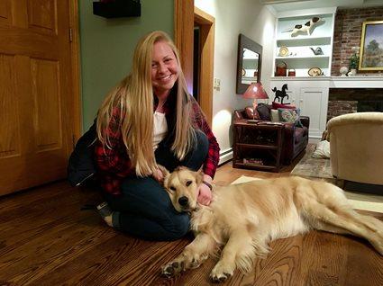Jennifer Minnick and Dog