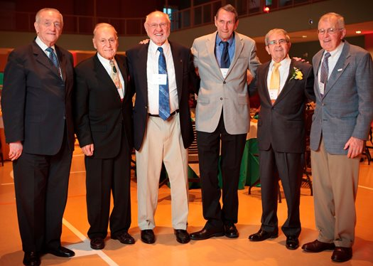 Dr. Haffner with fellow '52 classmates