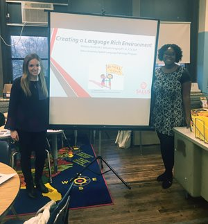 Capstone Project Benefits Local Parents - Salus University Speech Language Pathology