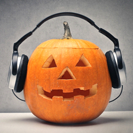 Jack on Lantern with Ear Phones